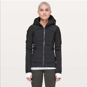 Lululemon Down For It All Jacket Coat sz 0 Black